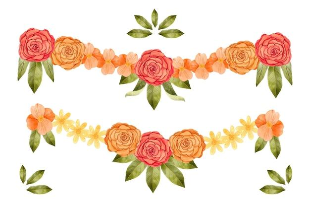 Aquarel ugadi garland illustratie