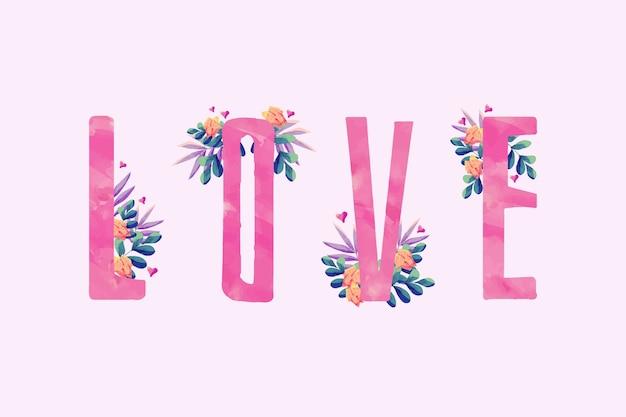 Aquarel valentijnsdag achtergrond concept