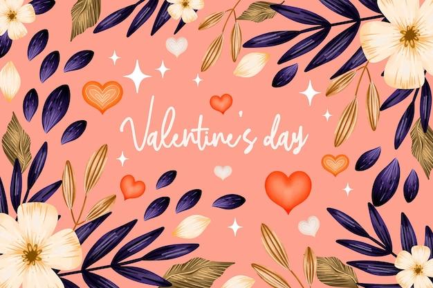 Aquarel valentijnsdag achtergrond