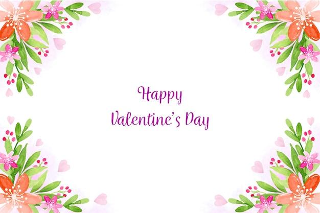 Aquarel valentijnsdag achtergrondthema