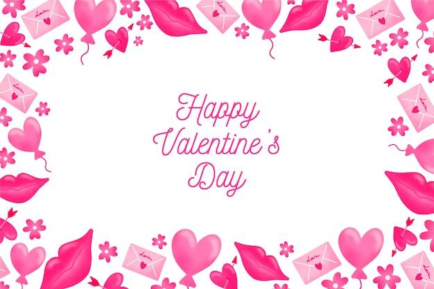 Aquarel valentijnsdag behang