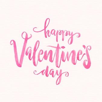 Aquarel valentijnsdag belettering