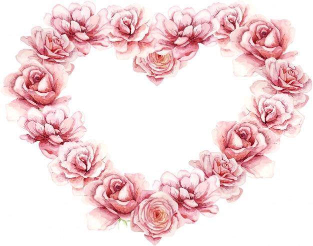 Aquarel valentijnsdag, geweldig ontwerp voor alle doeleinden