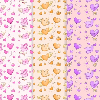 Aquarel valentijnsdag naadloze hart patroon