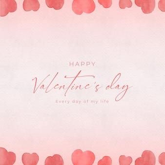 Aquarel valentijnsdag