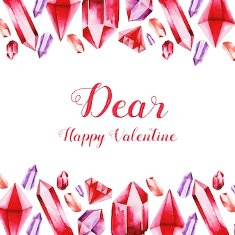 Aquarel valentine achtergronden