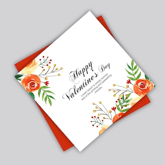 Aquarel valentine cards