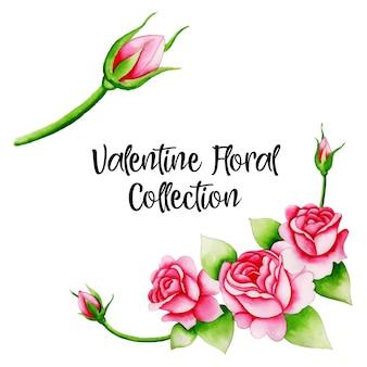 Aquarel valentine elementen collectie
