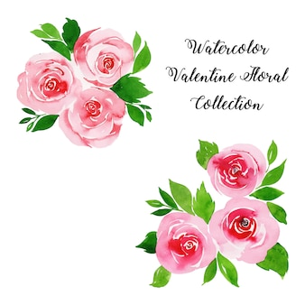 Aquarel valentine floral collectie
