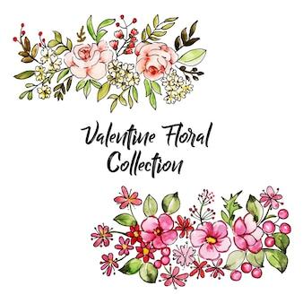 Aquarel valentine foral collectie