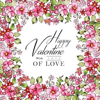 Aquarel valentine frame achtergrond