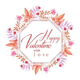 Aquarel valentine frames