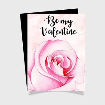 Aquarel valentine greeting card