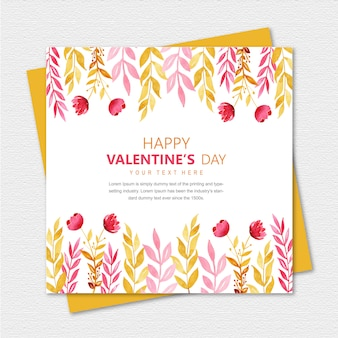 Aquarel valentine greeting card