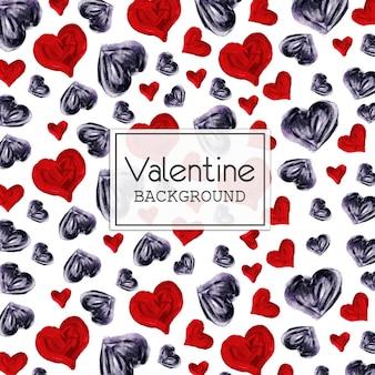 Aquarel valentine hart vorm achtergrond