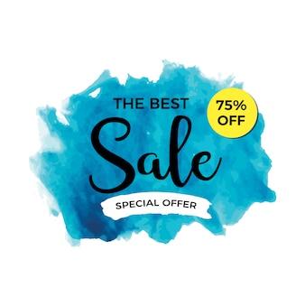 Aquarel verkoop banner