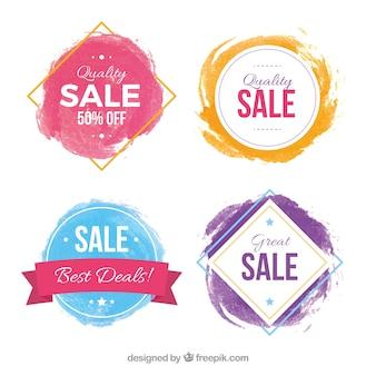 Aquarel verkooplabel collectie