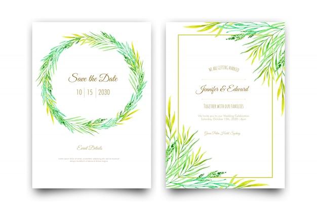 Aquarel verlaat bruiloft uitnodiging