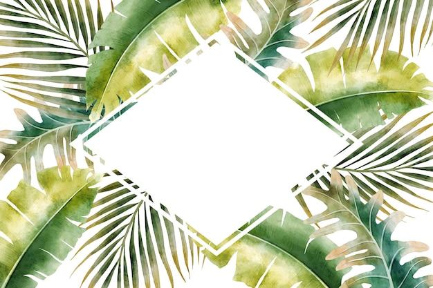 Aquarel verlaat frame achtergrond