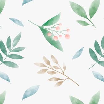 Aquarel verlaat grafisch patroonontwerp