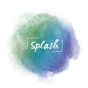 Aquarel verloop vlek met woord