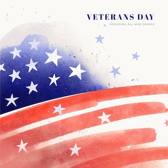 Aquarel veteranen dag