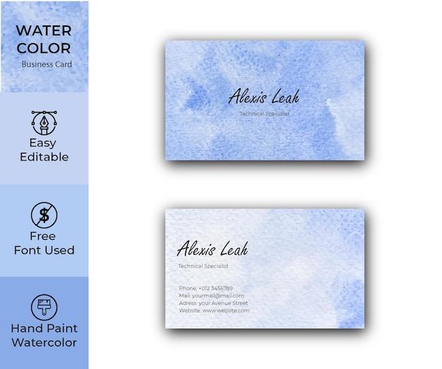 Aquarel visitekaartje ontwerp