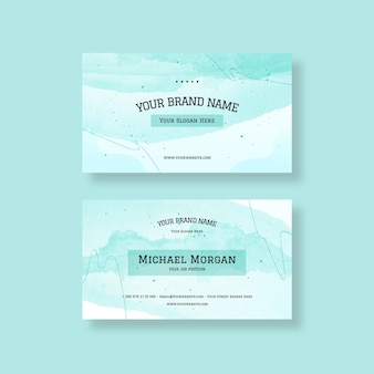 Aquarel visitekaartje
