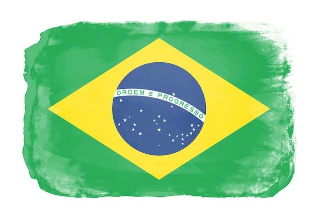 Aquarel vlag van brazilië