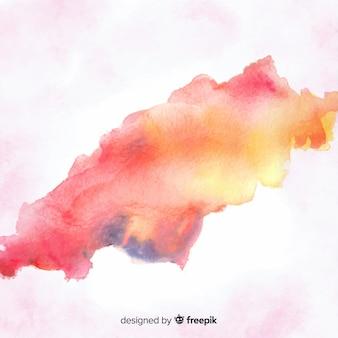 Aquarel vlek met abstracte vorm