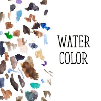 Aquarel vlekken achtergrondkleur borstel patroon