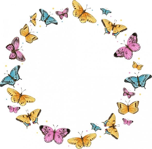 Aquarel vlinder frame