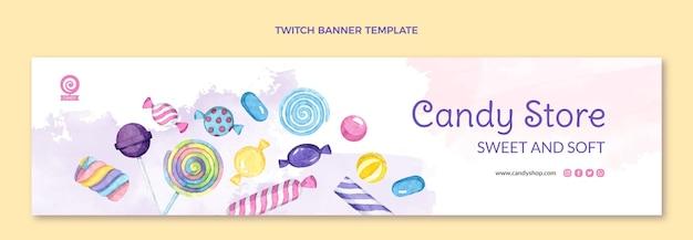 Aquarel voedsel twitch banner
