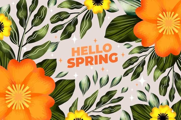 Aquarel voorjaar achtergrond