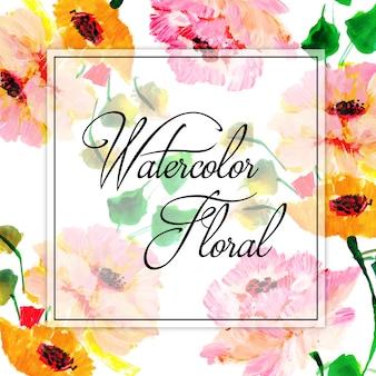 Aquarel voorjaar floral multifunctionele achtergrond