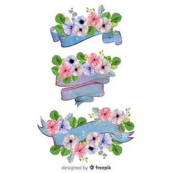 Aquarel voorjaar lint collectie