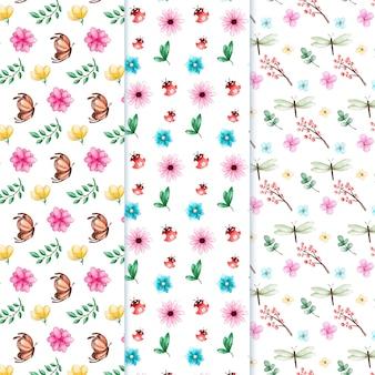 Aquarel voorjaar patroon collectie