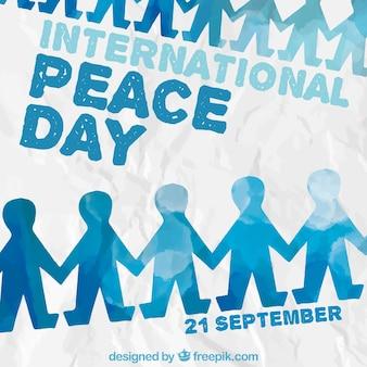 Aquarel vrede dag achtergrond