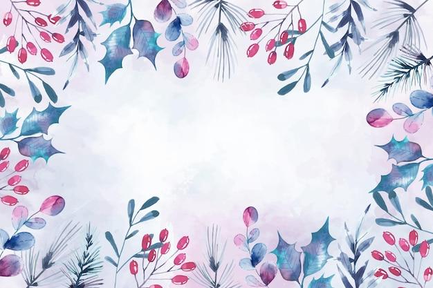 Aquarel vrolijk kerst behang concept