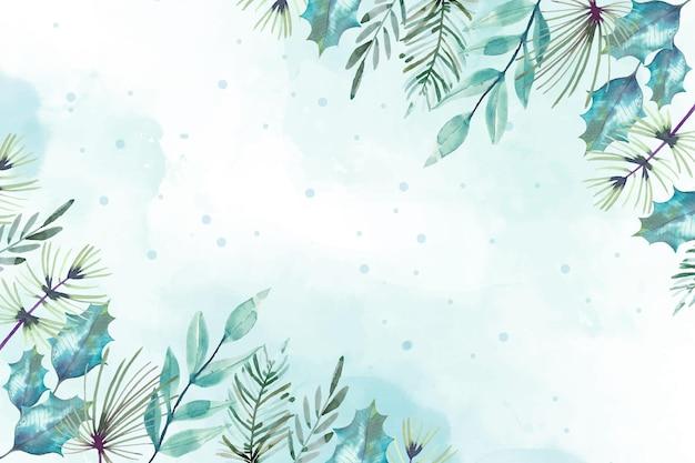 Aquarel vrolijk kerstfeest achtergrondontwerp
