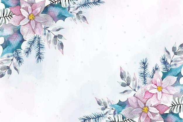 Aquarel vrolijk kerstfeest achtergrondstijl