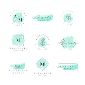 Aquarel vrouwelijk logo