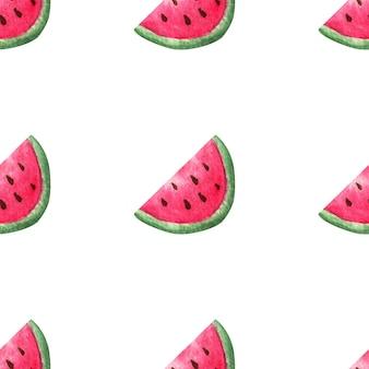 Aquarel watermeloenen. naadloos patroon