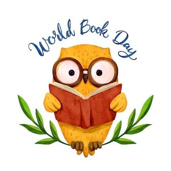 Aquarel wereld boek dag