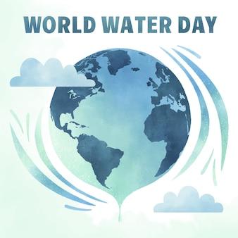 Aquarel wereld water dag
