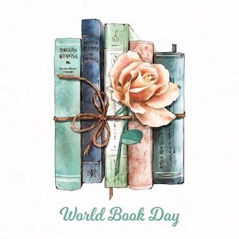 Aquarel wereldboek dag