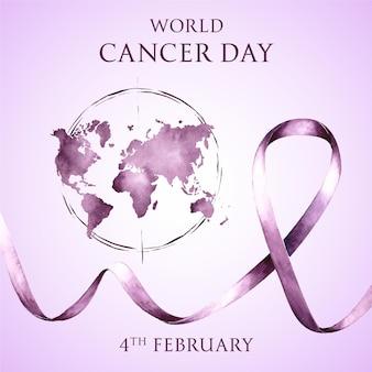 Aquarel werelddag voor kanker