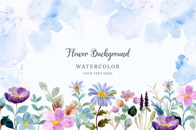 Aquarel wilde bloementuin achtergrond