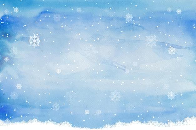 Aquarel winter achtergrond