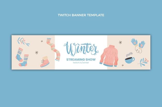 Aquarel winter twitch banner